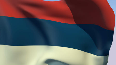 Flag of Serbia Civil Stock Video Footage
