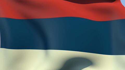 Flag of Serbia Civil Animation