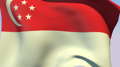 Flag of Singapore Stock Video Footage
