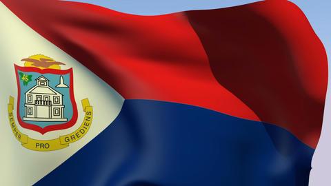 Flag of Sint Maarten Stock Video Footage