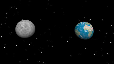 Moon And Planet stock footage