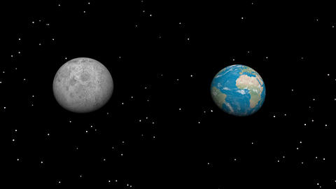 moon and planet Stock Video Footage