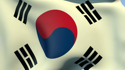 Flag of South Korea Animation