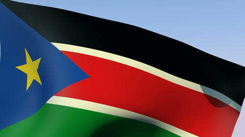 Flag of South Sudan Animation