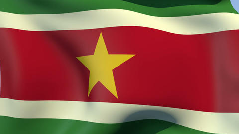 Flag of Suriname Animation