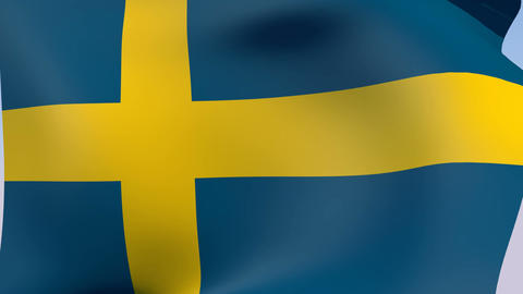 Flag of Sweden Animation