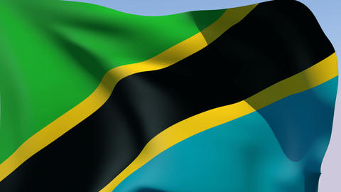 Flag of Tanzania Animation