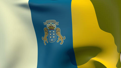 Flag of the Canary Islands Stock Video Footage