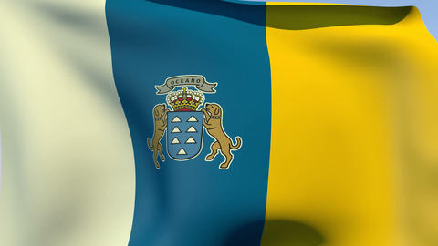 Flag of the Canary Islands Animation