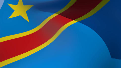 Flag of the Democratic Republic of the Congo Stock Video Footage