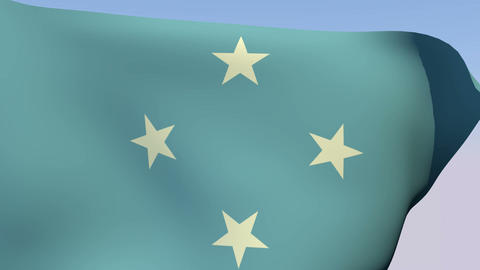 Flag of the Federated States of Micronesia Stock Video Footage
