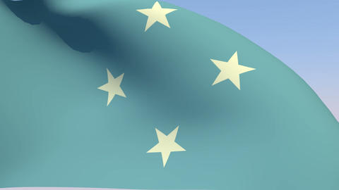 Flag of the Federated States of Micronesia Animation