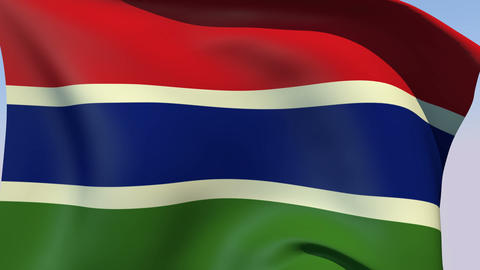 Flag of The Gambia Stock Video Footage