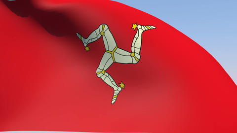 Flag of the Isle of Man Animation