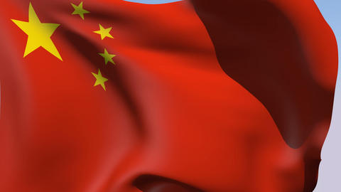Flag of the People's Republic of China Stock Video Footage