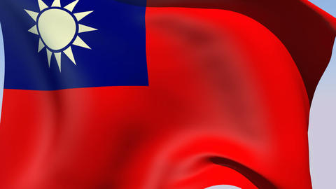 Flag of the Republic of China (Taiwan) Stock Video Footage