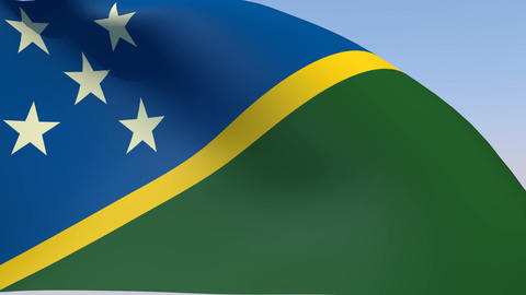 Flag of the Solomon Islands Animation