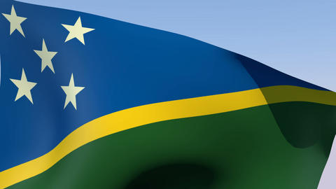 Flag of the Solomon Islands Stock Video Footage