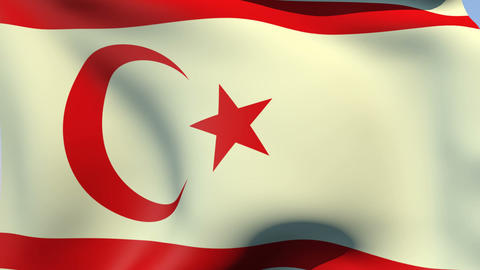 Flag of the Turkish Republic of Northern Cyprus Animation