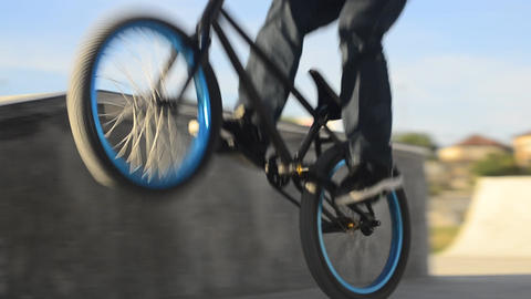 Bmx rider grinding