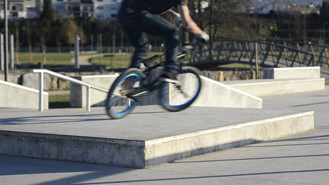 Bmx rider in action Footage