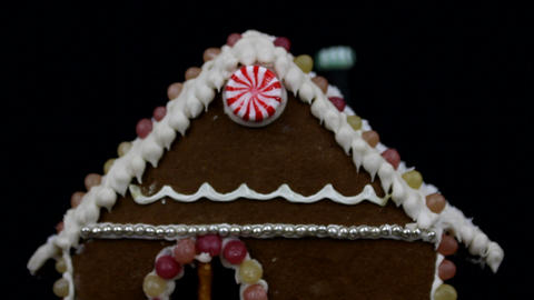 Home made gingerbread house Footage