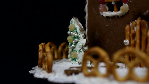 Home made gingerbread christmas trees Stock Video Footage