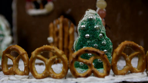 Home made gingerbread christmas trees Footage