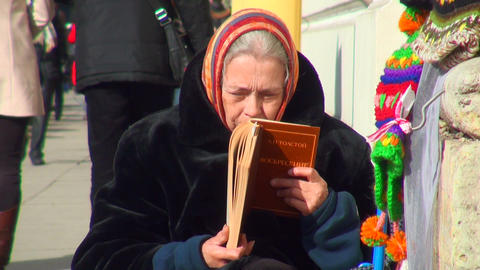 Grandmother Reads The Book stock footage