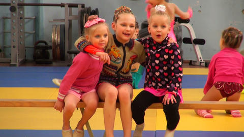 Girls in training exercises Stock Video Footage