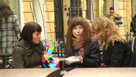 Girl Friends stock footage