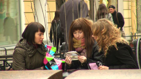 Girl friends Stock Video Footage
