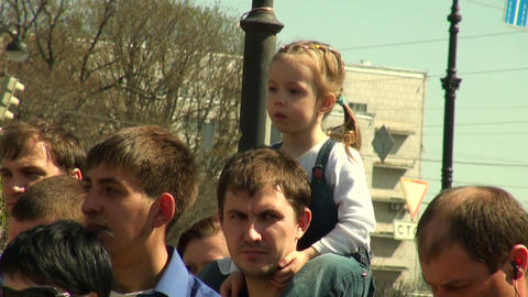 The child on the shoulders of the pope Footage