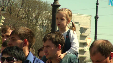 The child on the shoulders of the pope Stock Video Footage