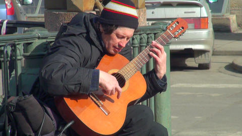 Guitarist playing Footage