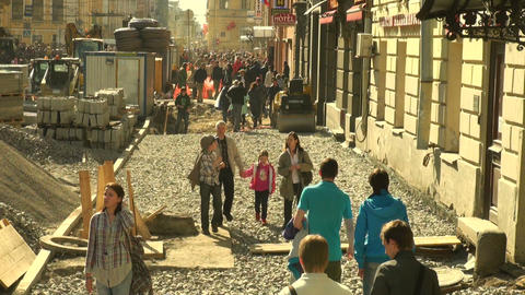 People in the city Stock Video Footage
