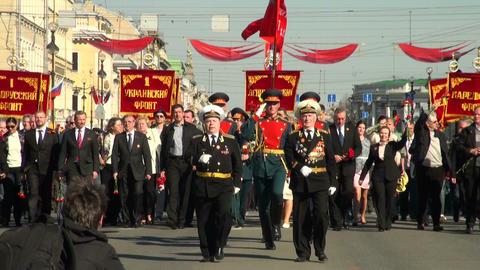 Festive parade Footage