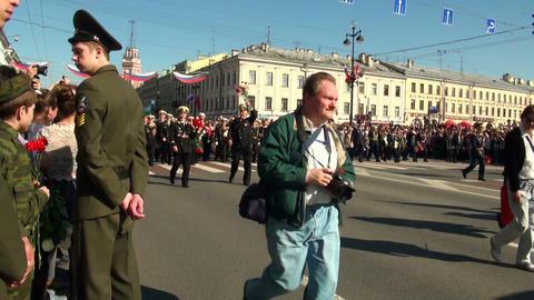 Festive parade Stock Video Footage