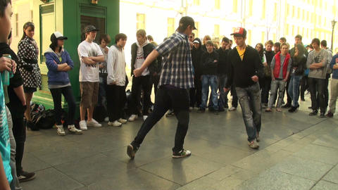 Rap on the street Footage