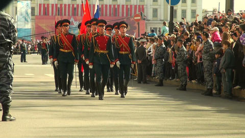 A parade of military Footage