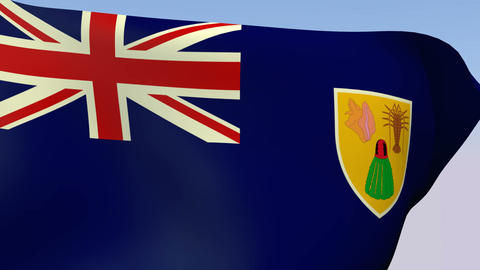 Flag of Turks and Caicos Islands Animation