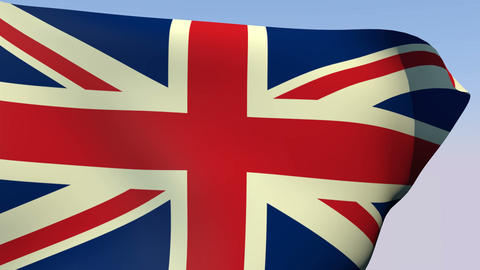 Flag of United Kingdom Stock Video Footage