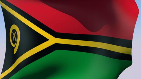 Flag of Vanuatu Animation
