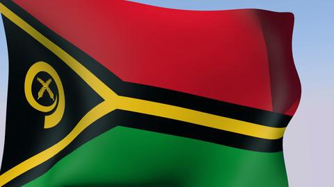 Flag of Vanuatu Stock Video Footage