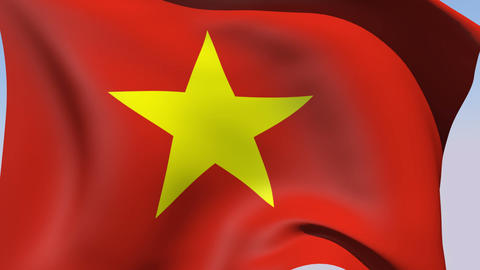 Flag of Vietnam Animation