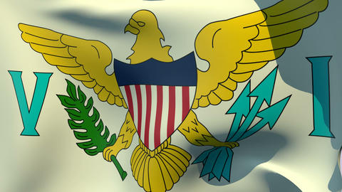 Flag of Virgin Islands United States Stock Video Footage