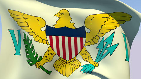 Flag of Virgin Islands United States Animation