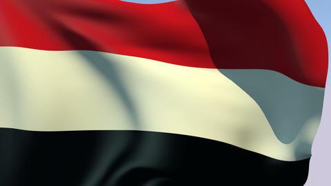 Flag of Yemen Stock Video Footage