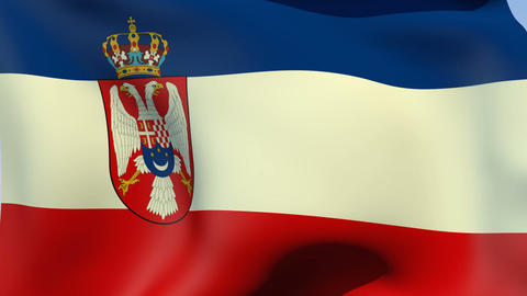 Flag of Yugoslavia Kingdom Stock Video Footage