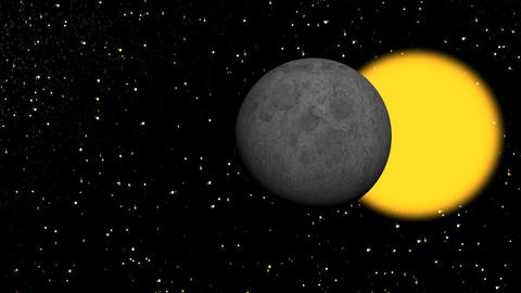 moon black and sun yellow Stock Video Footage